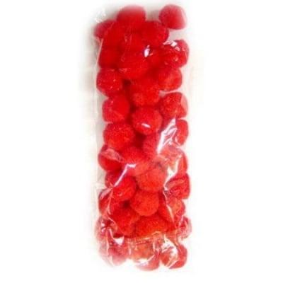 Помпони 20 мм червени -50 броя