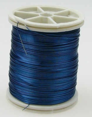 Тел медна 0.3 мм синьо ~50 метра