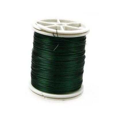 Тел медна 0.3 мм зелена ~50 метра