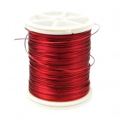 Тел медна 0.4 мм червена тъмна ~26 метра