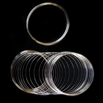 Тел за гривни 65x0.5 мм цвят сребро -50 навивки ~23 грама