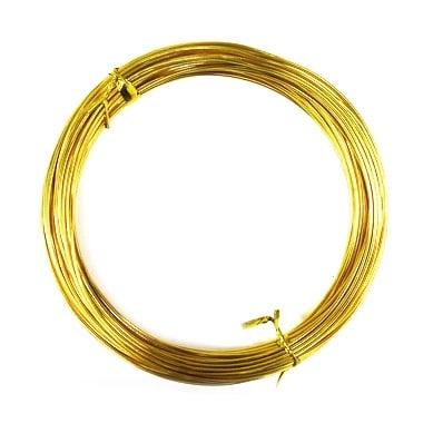 Тел алуминиева 1 мм цвят жълт -10 метра