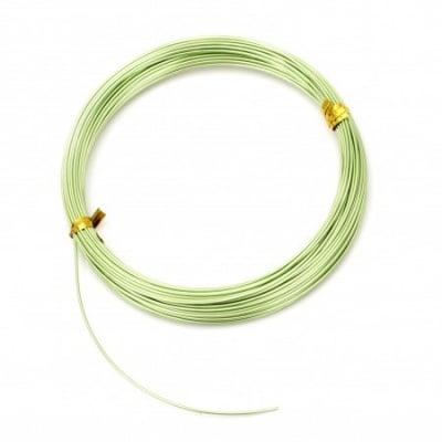 Тел алуминиева 1 мм цвят зелен светло -10 метра