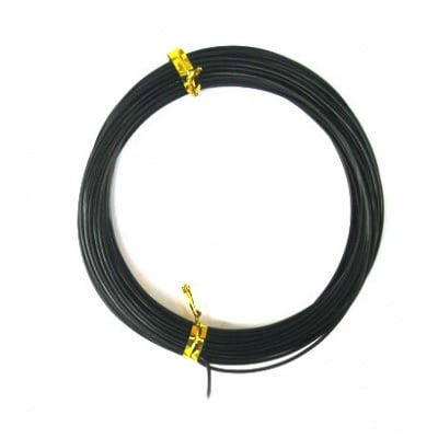Тел алуминиева 1 мм цвят черен -10 метра