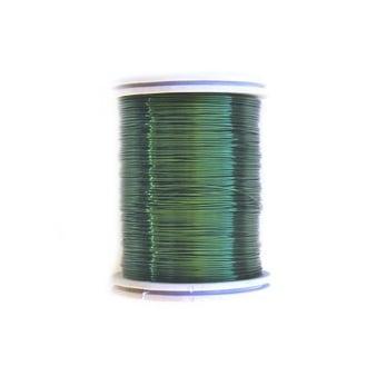Тел медна 0.4 мм зелена тъмно ~26 метра