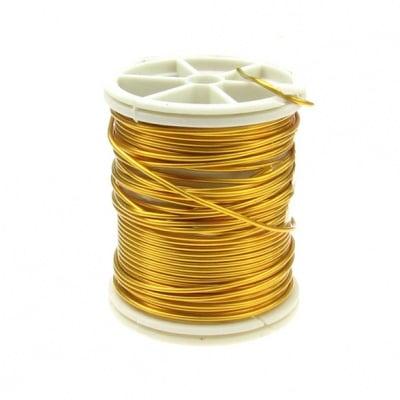 Тел медна 1.0 мм злато ~6 метра