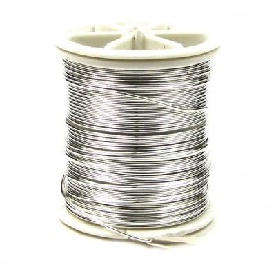 Тел медна 0.8 мм перлена сребро ~7 метра