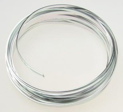 Лента алуминиева 3.5x0.9 мм цвят сребро -5 метра