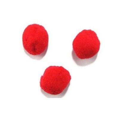 Помпони 35 мм червени -10 броя