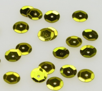 Пайети обли 8 мм злато - 20 грама