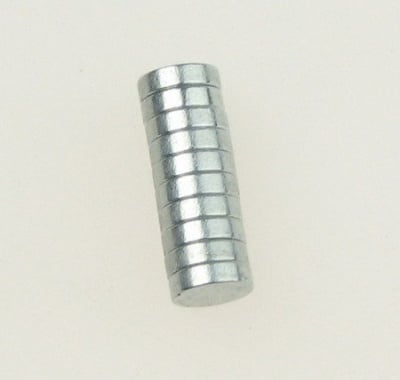 Магнит никел 5х2 мм -10 броя