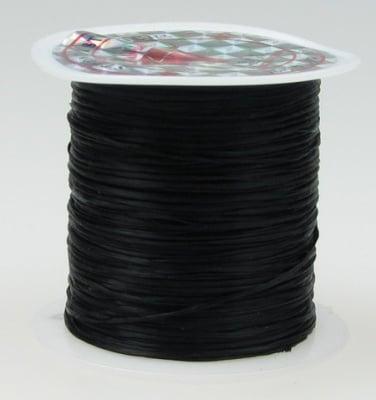 Силикон ластик 0.8 мм черен ~11 метра