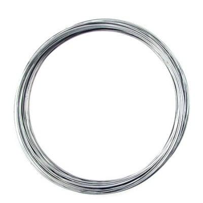 Тел за гердани 115x0.8 мм цвят сребро -50 навивки