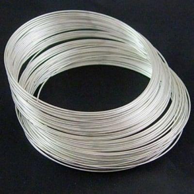Тел за гердани 115x0.6 мм цвят сребро -50 навивки ~45 грама