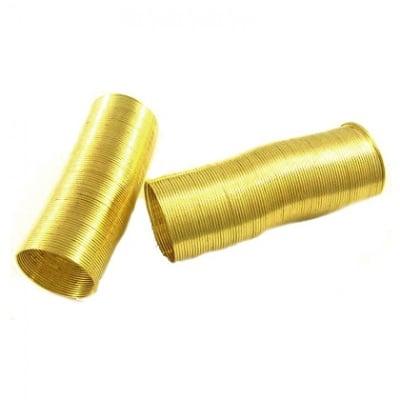 Тел за пръстен 22x0.6 мм цвят злато -50 навивки