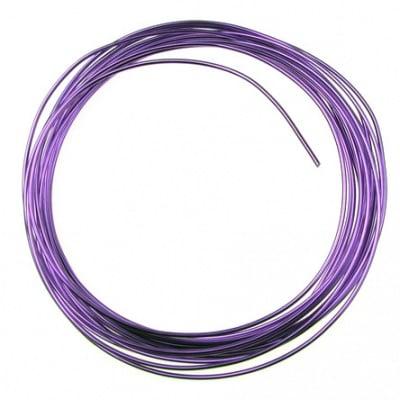 Тел алуминиева 1.5 мм цвят лилав -6 метра