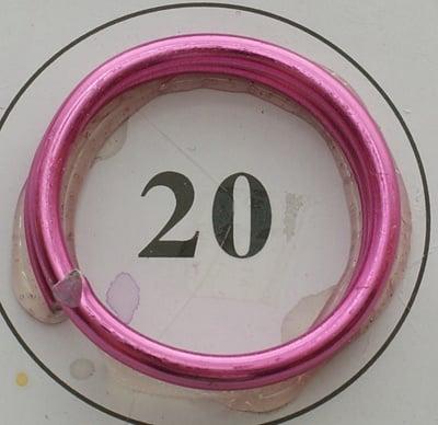Тел алуминиева 1.5 мм цвят тъмно розов -6 метра
