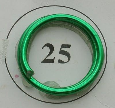 Тел алуминиева 2 мм цвят зелен -6 метра