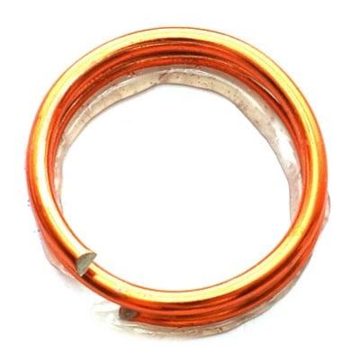 Тел алуминиева 1.5 мм цвят оранжев ~5 метра