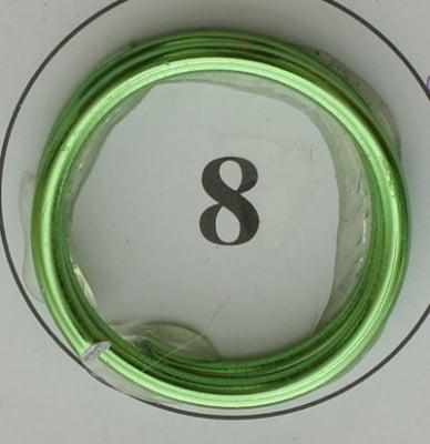 Тел алуминиева 2 мм цвят светло зелен ~6 метра