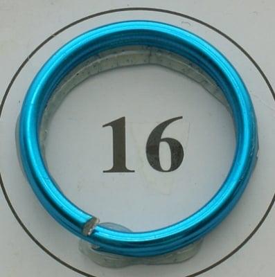 Тел алуминиева 2 мм цвят син светъл -6 метра