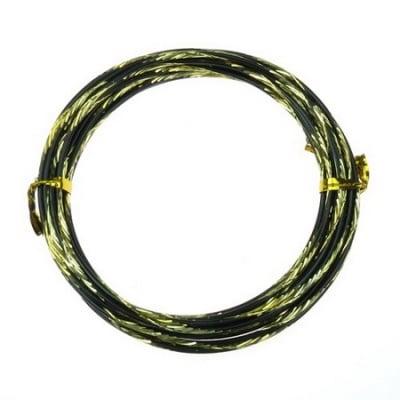 Тел алуминиева 2 мм цвят черно и жълто -5 метра