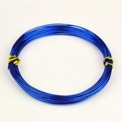 Тел алуминиева 1 мм цвят син тъмен -10 метра