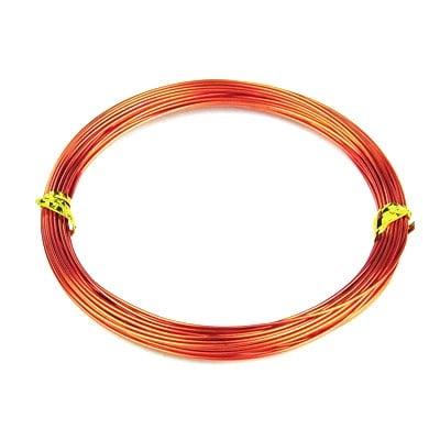Тел алуминиева 1 мм цвят оранжев -10 метра