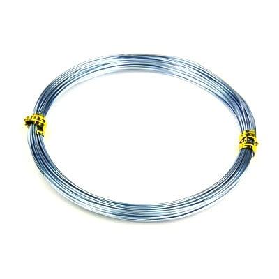 Тел алуминиева 1 мм цвят син блед -10 метра