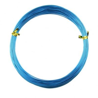 Тел алуминиева 1 мм цвят син светъл -10 метра