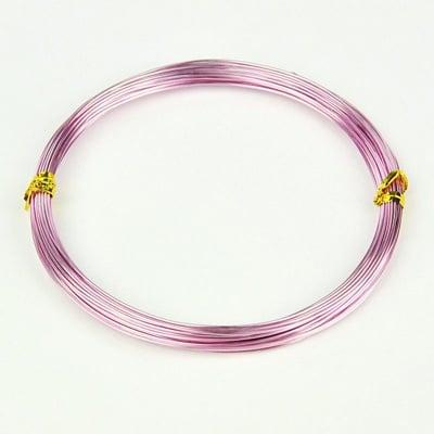 Тел алуминиева 1 мм цвят лилав светъл -10 метра