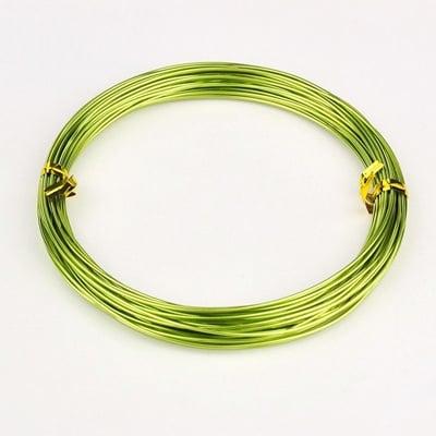 Тел алуминиева 1 мм цвят жълто/зелен -10 метра