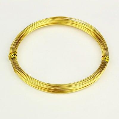 Тел алуминиева 1 мм цвят злато -10 метра