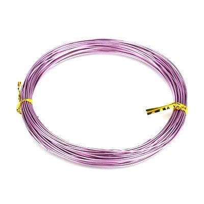 Тел алуминиева 0.8 мм цвят лилав светъл -10 метра