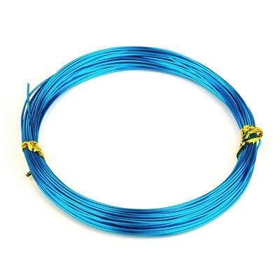 Тел алуминиева 0.8 мм цвят син светъл -10 метра