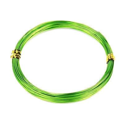 Тел алуминиева 0.8 мм цвят зелен светъл ~10 метра