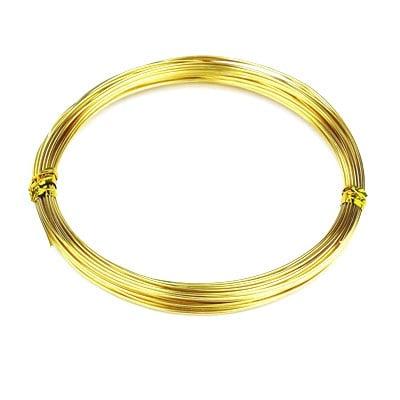 Тел алуминиева 0.8 мм цвят злато ~10 метра