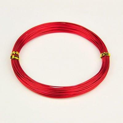 Тел алуминиева 1 мм цвят червен -20 метра