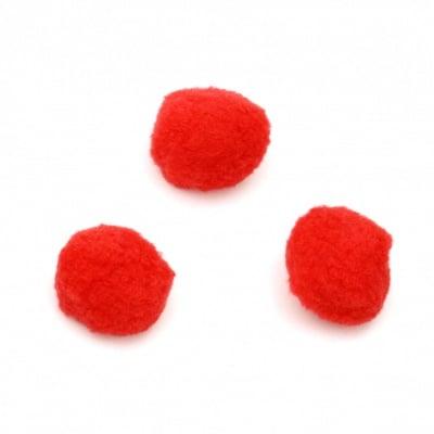 Помпони 32 мм червени -10 броя