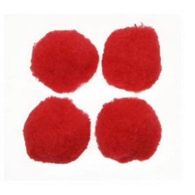 Помпони 30 мм червени -10 броя