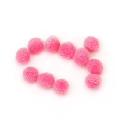 Помпони 6 мм розови светло първо качество -50 броя