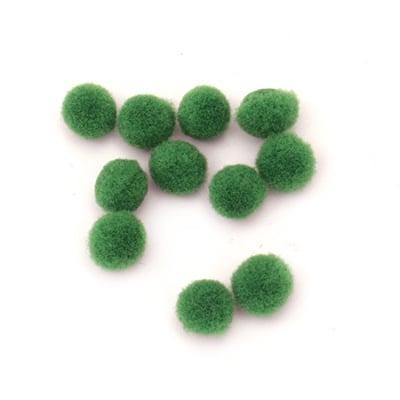 Помпони 6 мм зелени първо качество -50 броя