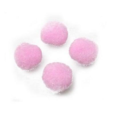 Помпони 12 мм розови светло -20 броя