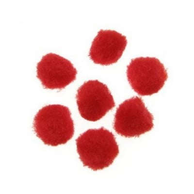 Помпони 12 мм червени -20 броя