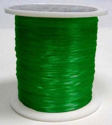 Силикон ластик 0.8 мм зелен светло ~11 метра