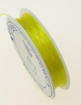 Силикон 0.8 мм прозрачен жълт ~10 метра
