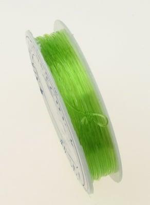 Силикон 0.8 мм прозрачен зеленсветъл ~10 метра