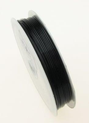 Силикон 0.8 мм прозрачен черен ~10 метра