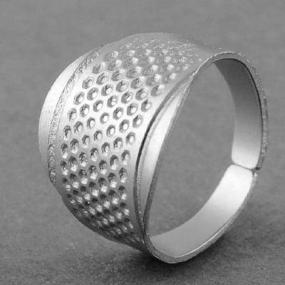 Напръстник от цинкова сплав 15x16 мм цвят сребро
