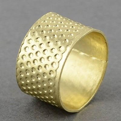Напръстник от цинкова сплав 11x16 мм цвят злато
